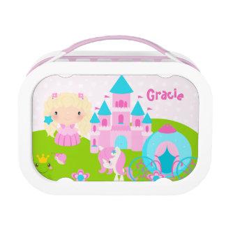 De leuke Prinses Gepersonaliseerde Doos van de Lunchbox