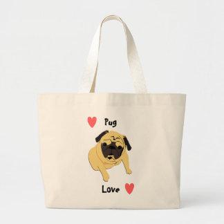 De leuke Pug Hond van de Liefde Grote Draagtas