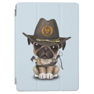 De leuke Pug Jager van de Zombie van het Puppy iPad Air Cover