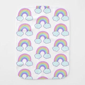 De leuke Regenboog van de Pastelkleur Spuugdoekje