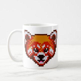 De leuke Rode Panda van de Kunst van het Pixel Koffiemok