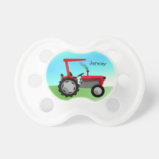 De leuke Rode Tractor van het Boerderij Baby Speentje