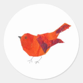 De Leuke Rode Vogel van de Valentijnsdag Ronde Sticker