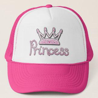 De leuke Roze Gedrukte Kroon van de Prinses van Trucker Pet
