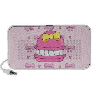 De leuke roze gele boog van de kawaiimakaron mp3 speaker