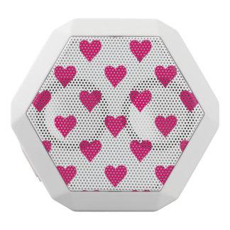 De leuke Roze Liefde van het Patroon van het Hart Witte Bluetooth Speaker
