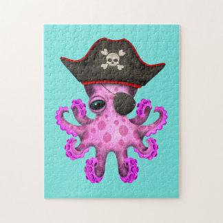De leuke Roze Piraat van de Octopus van het Baby Puzzel