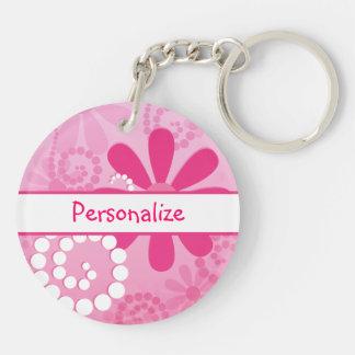 De Leuke Roze Retro Madeliefjes van mooie Bloemen Sleutelhanger