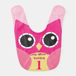 De leuke Roze Slab van het Baby van de Verjaardag Baby Slabbetje
