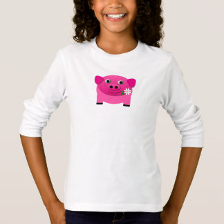 De leuke Roze T-shirt van de Nieuwigheid Emoji van