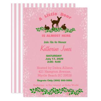 De leuke (Roze) Uitnodiging van het Baby shower