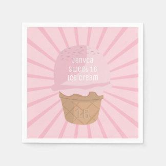 De leuke Roze Zoete 16 Servetten van de Verjaardag Wegwerp Servetten