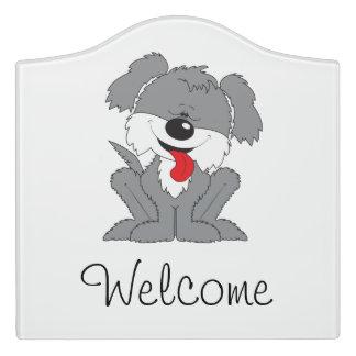 De leuke Ruwharige Cartoon van het Puppy