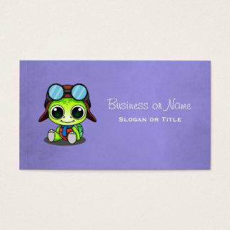 De leuke Schildpad van de Cartoon in het Pet van Visitekaartjes