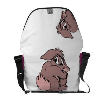 De leuke Schuwe Cartoon van het Konijn van het Messenger Bag