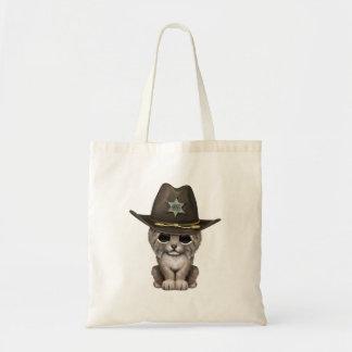 De leuke Sheriff van de Welp van de Lynx van het Draagtas