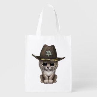 De leuke Sheriff van de Welp van de Lynx van het Herbruikbare Boodschappentas