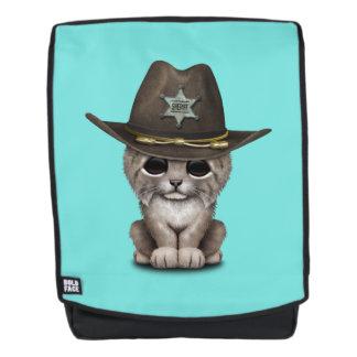 De leuke Sheriff van de Welp van de Lynx van het Rugtassen