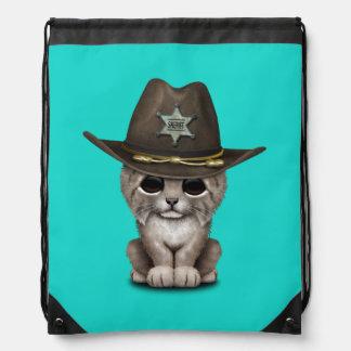 De leuke Sheriff van de Welp van de Lynx van het Trekkoord Rugzakje