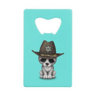 De leuke Sheriff van de Wolf van het Baby Creditkaart Flessenopener