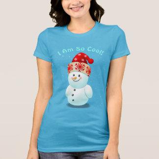 De leuke Sneeuwman van het Baby met het Pet van T Shirt
