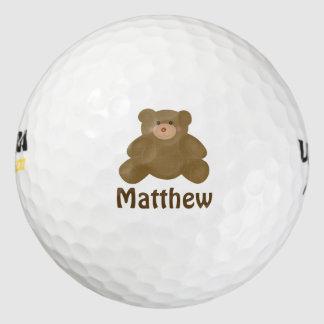 De leuke Snoezige Bruine Teddybeer en de Stippen Golfballen