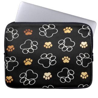 De leuke Sporen van Pawprints van de Hond, Laptop Laptop Sleeve
