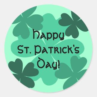 De leuke St Patrick gelukkige klavers van de Dag Ronde Sticker
