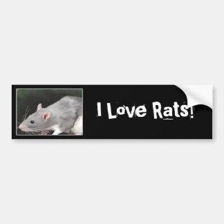 De leuke Sticker van de Bumper van de Rat