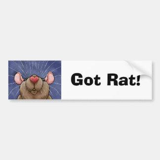 De leuke Sticker van de Bumper van de Rat van het
