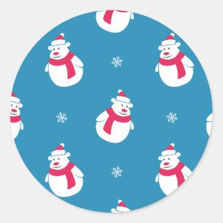 De leuke Sticker van de Ijsbeer van Kerstmis