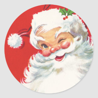 De leuke stickers van Kerstmis van de Kerstman