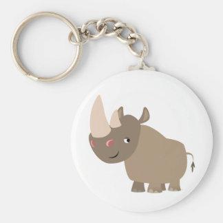 De leuke Stille Rinoceros van de Cartoon Sleutelhanger