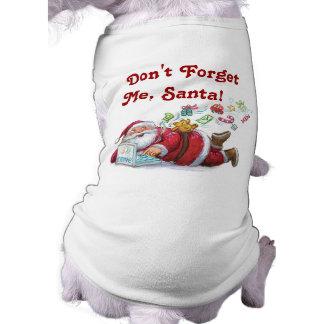 De leuke t-shirt van de Hond van Kerstmis van de K Mouwloos Hondenshirt