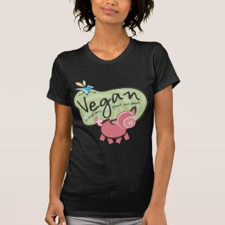 De leuke T-shirt van het Bericht van de Veganist