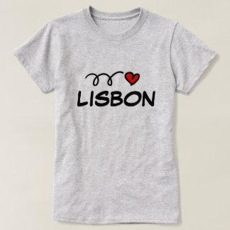 De leuke t-shirt van het hartLissabon van I voor