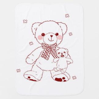 De leuke Teddybeer met Baby draagt deken Inbakerdoek