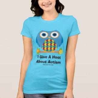 De leuke Uil geeft een Krasgeluid over Autisme T Shirt