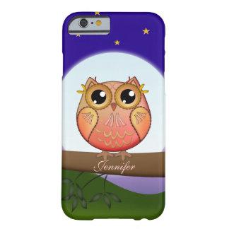 De leuke Uil van de Volle maan & douaneNaam Barely There iPhone 6 Hoesje