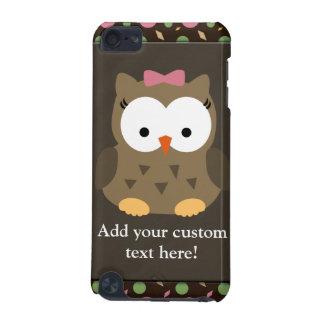 De leuke Uil van het Meisje van het Baby met Roze  iPod Touch 5G Hoesje