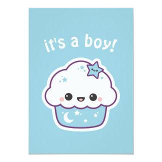 De leuke Uitnodigingen van het Baby shower Cupcake
