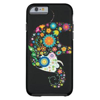 De leuke Vector van de Olifant van de Bloem Tough iPhone 6 Hoesje