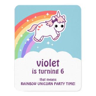 De leuke Verjaardag van de Eenhoorn van de 10,8x13,9 Uitnodiging Kaart