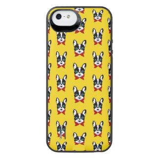 De leuke verkenner Frenchie is klaar voor zijn iPhone SE/5/5s Batterij Hoesje
