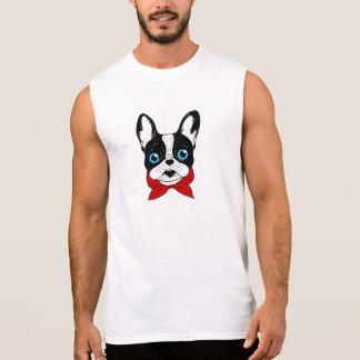 De leuke verkenner Frenchie is klaar voor zijn T Shirt