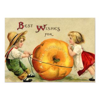 De leuke Vintage Groet van de Thanksgiving Kaart