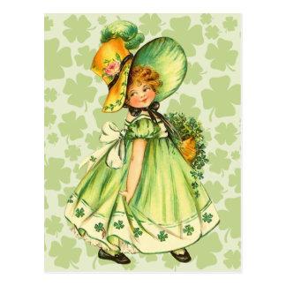 De leuke Vintage St. Patrick Briefkaarten van de