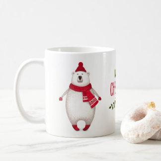De leuke Vrolijke Mok van de Koffie van de Ijsbeer