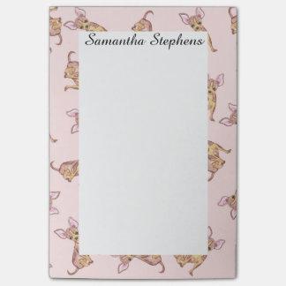 De leuke Waterverf Chihuahua schilderde Roze Bruin Post-it® Notes