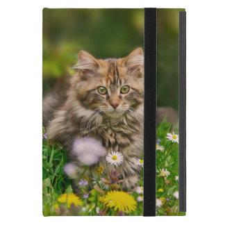 De leuke Weide van de Bloem van de Kat van het iPad Mini Hoesje